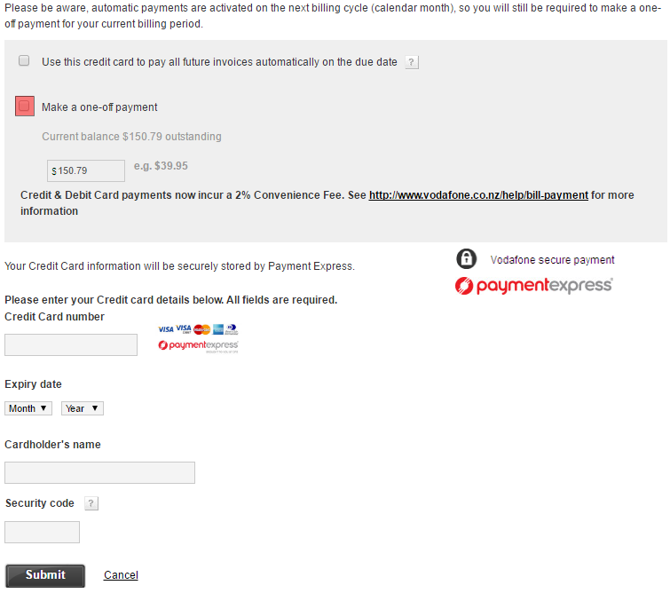 how to pay a vodafone broadband or phone bill vodafone nz